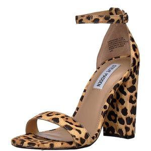 Leopard Print Steve Madden Chunky heels